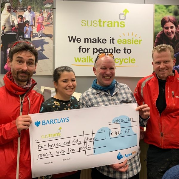 Cheque Handover To Sustrans